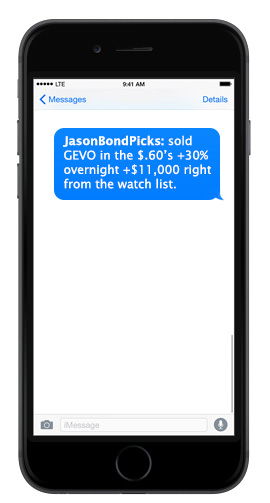 SMS Sell alerts
